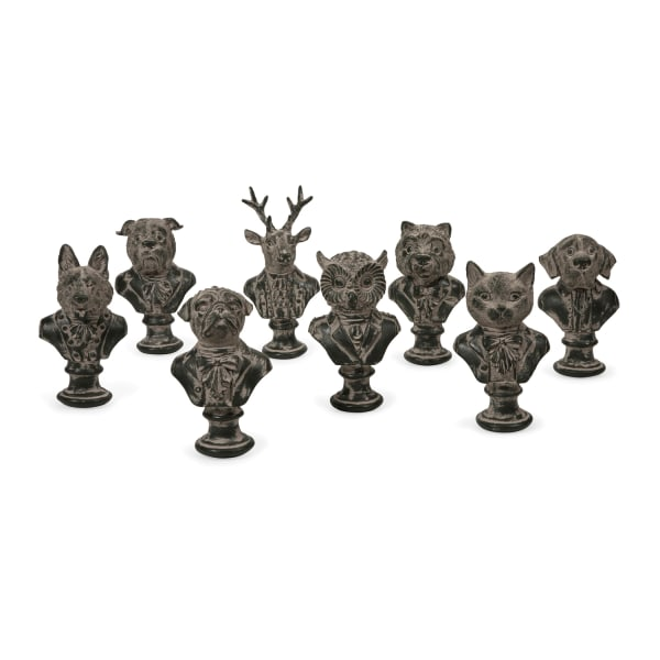 Suited Animal Busts Set of 8