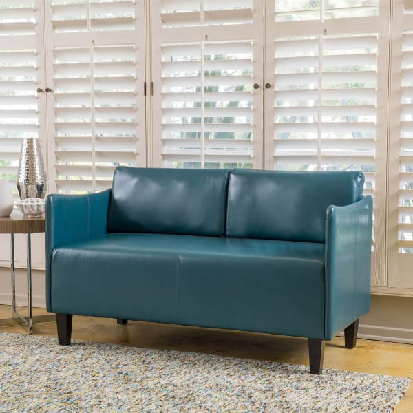 Teal Modern Loveseat