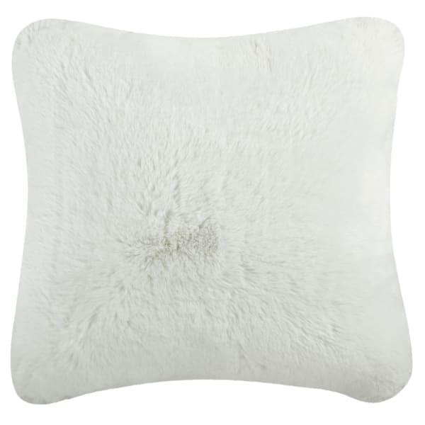Faux Fur Chinchilla White Pillow