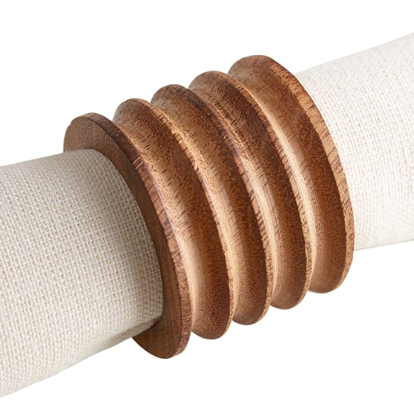 Natural Carved Wood Napkin Ring