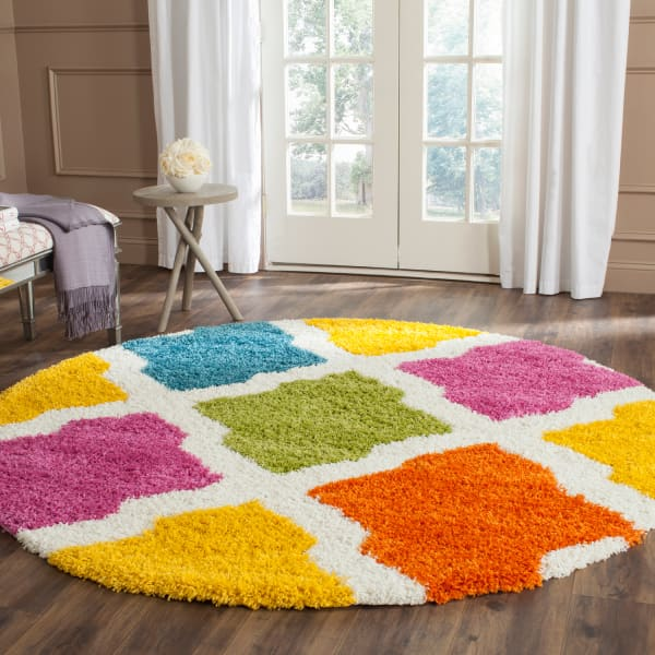 Layla Multicolored Kids 7' Round Rug