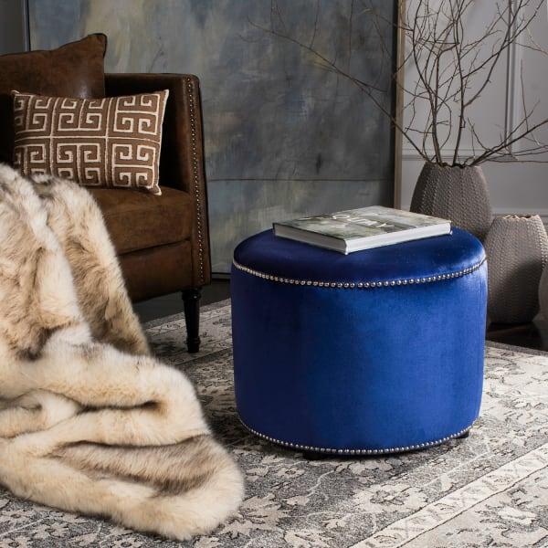 Blue Christina Ottoman