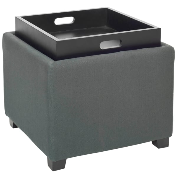 Jillian Gray Single Tray Ottoman