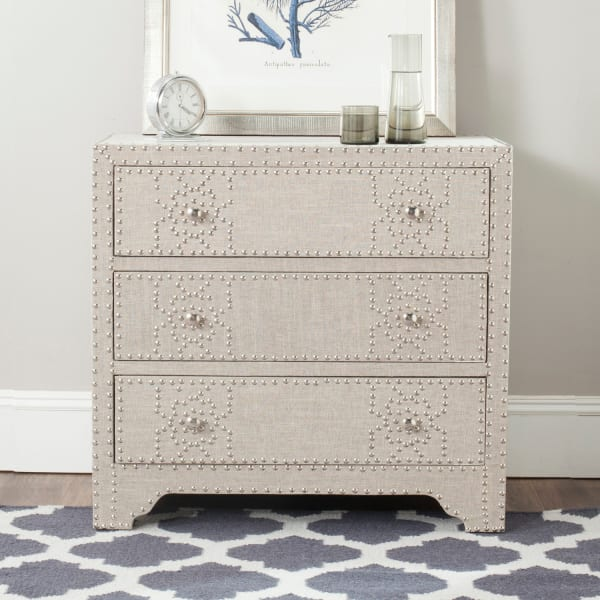 Lucas Beige 3 Drawer Chest