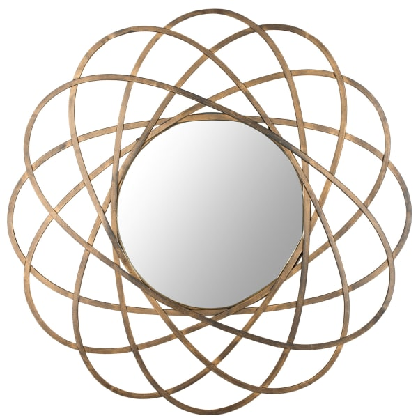 Serena Gold Iron & Glass Mirror