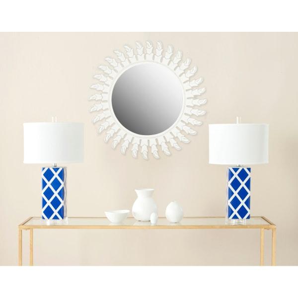 Nicholas White Wood & Glass Mirror