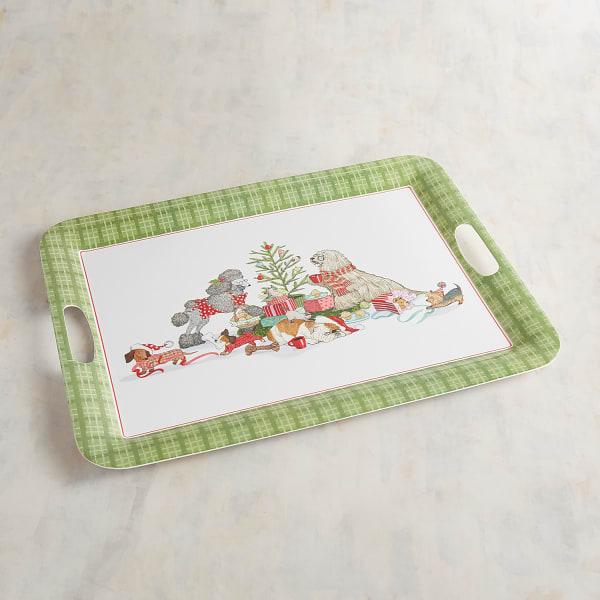 Park Avenue Puppies™ Christmas Morning Melamine Serving Tray