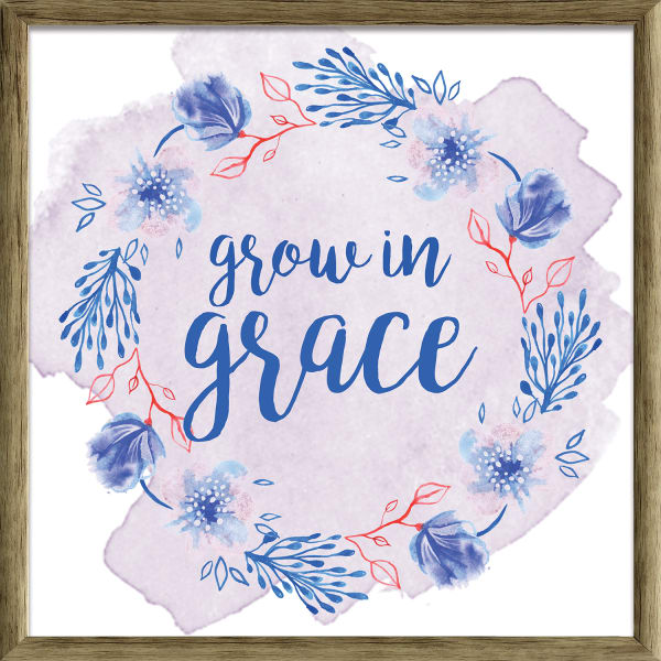 Grow In Graces Floral Wall Art