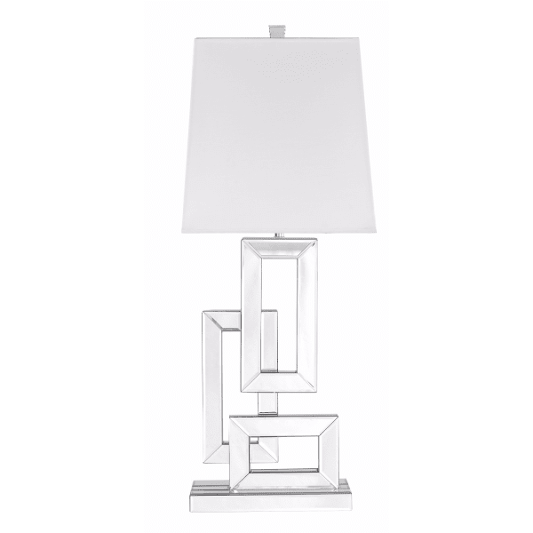 Silver Rectangles Table Lamp