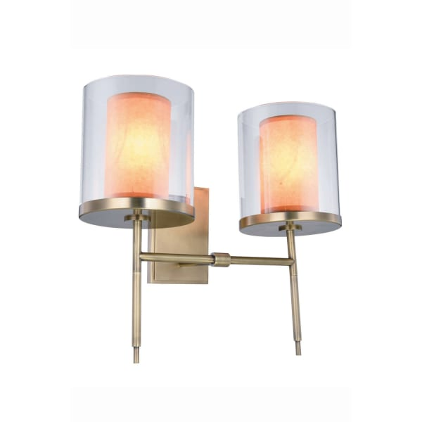 Burnished Brass 2-Light Wall Sconce