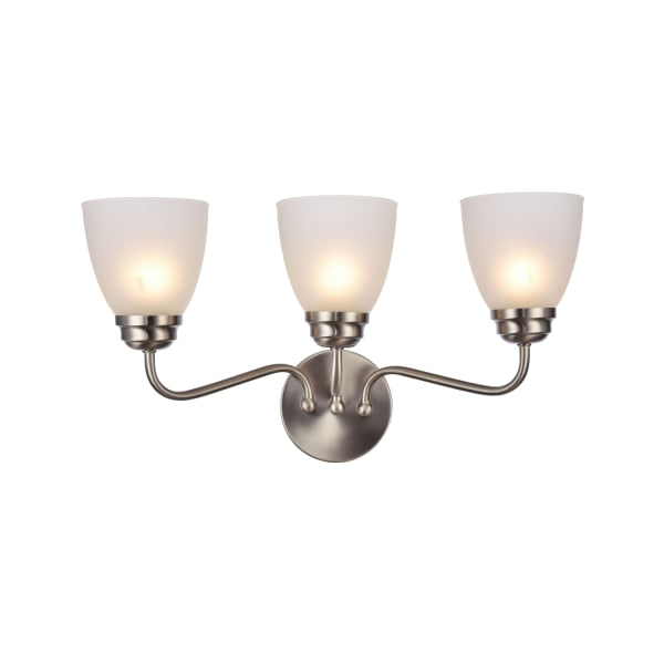 Brushed Nickel 3-Light Wall Sconce