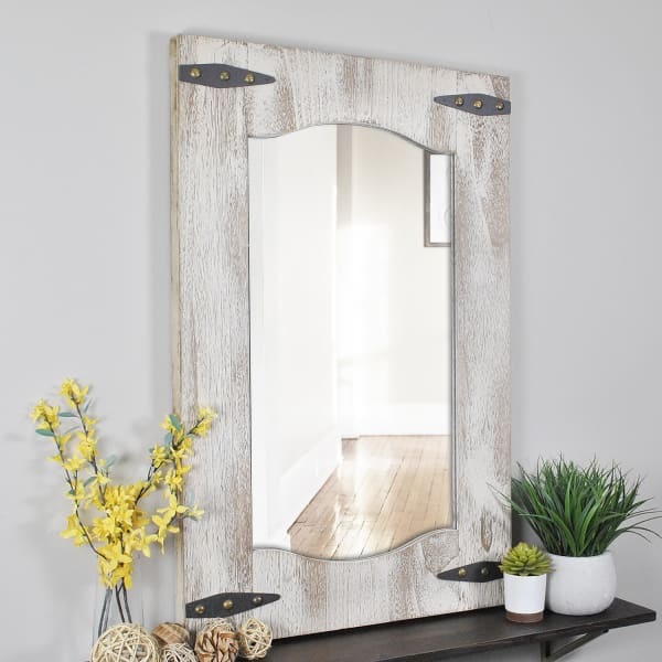 Barn Door Tan & Ivory Wall Mirror