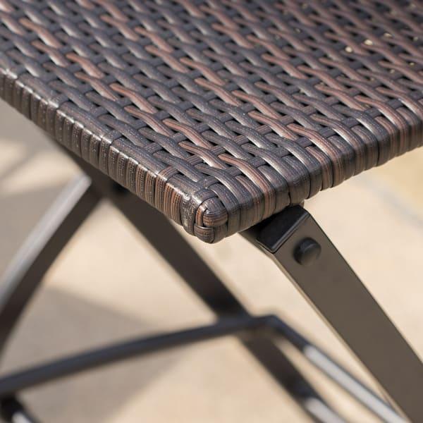 Moulton Multi Brown Wicker Barstool Set of 2