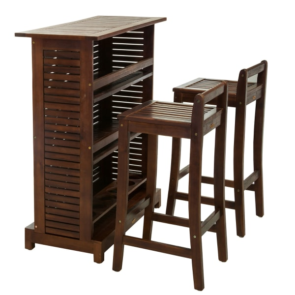 Wooden Bar 3-Piece Set