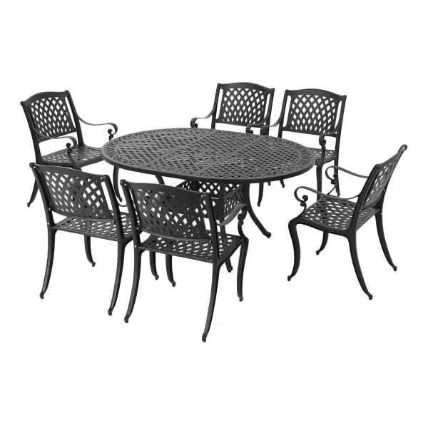 Carmel Black 7-Piece Dining Set with Expandable Dining Table