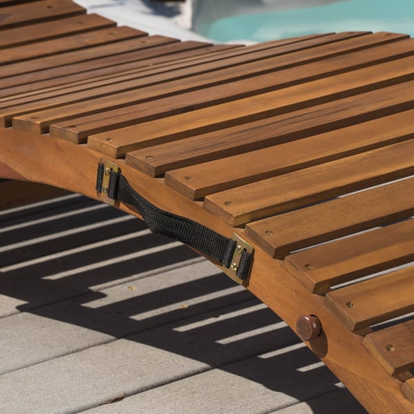Wood Outdoor Chaise Lounge