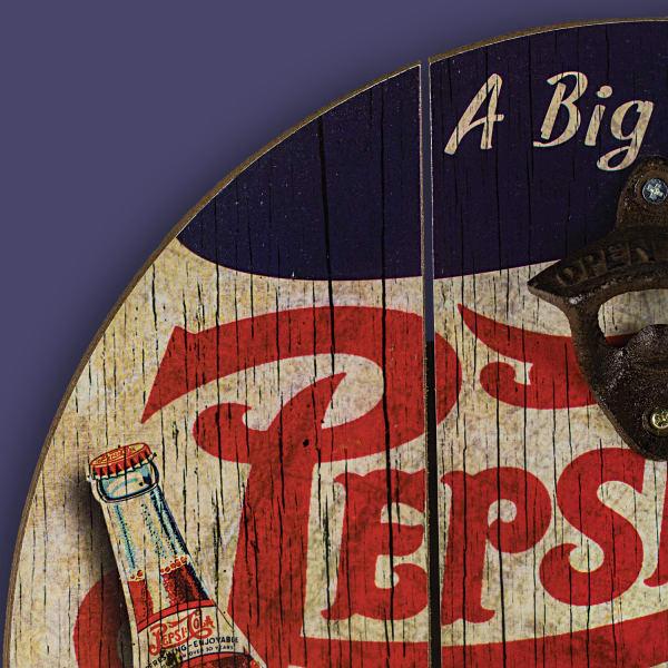 Pepsi Cola Bottle Opener with Cap Catcher