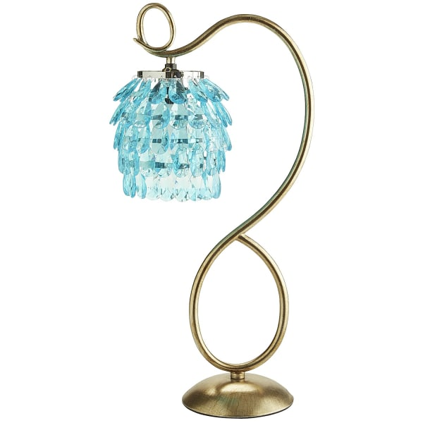 Aqua Swirls & Drops Table Lamp