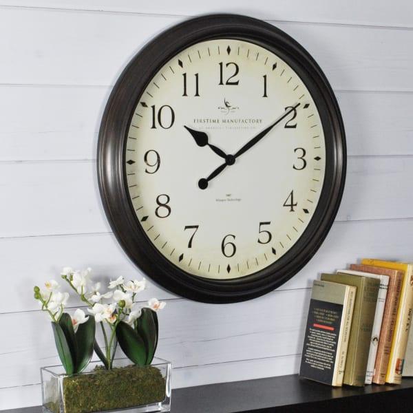 Avery Whisper Oil Rubbed Bronze Wall Clock