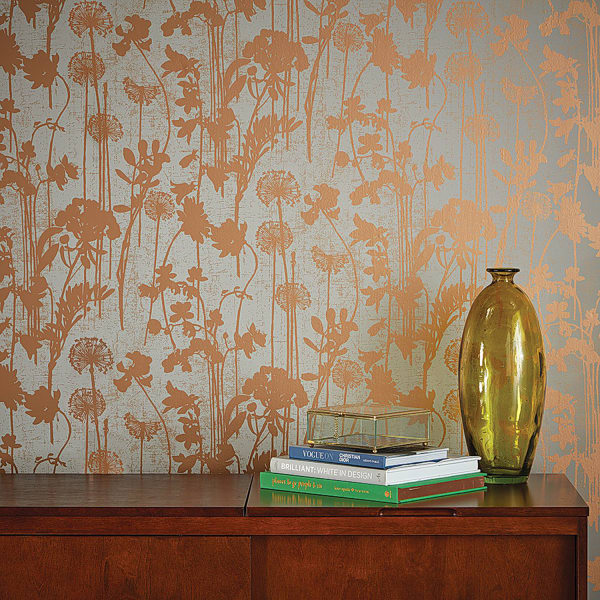 Distressed Floral Self-Adhesive Removable Wallpaper