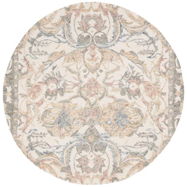 Essence 901 5' X 5' Round Ivory Wool Rug