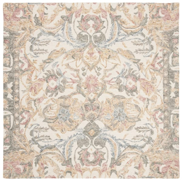 Essence 901 5' X 5' Square Ivory Wool Rug