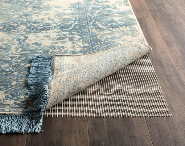 Grid Pad 6' X 6' Square Ivory Polyester Rug