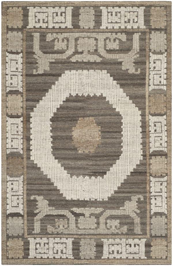 Gypsy 313 4' X 6' Ivory Wool Rug