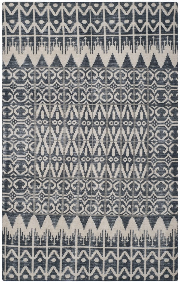Gypsy 606 5' X 8' Black Wool Rug