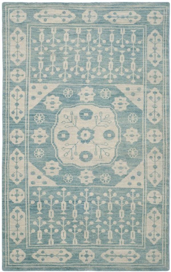 Gypsy 683 4' X 6' Blue Wool Rug