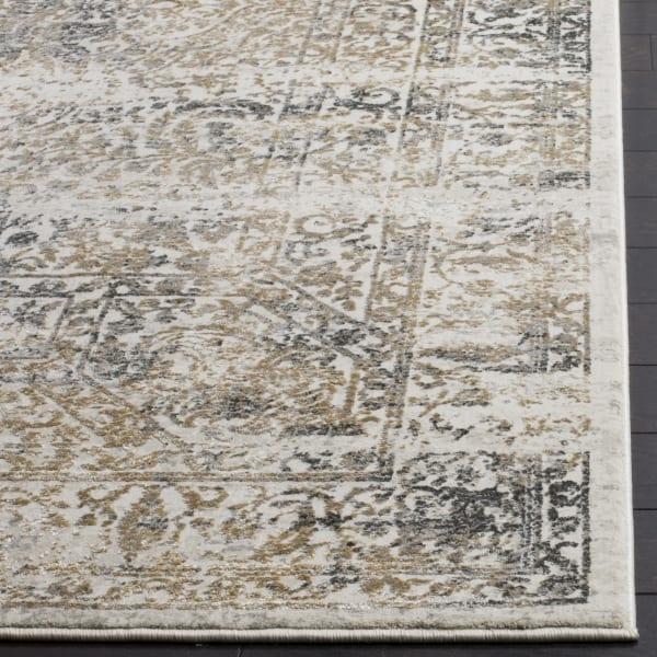 Haden 711 2' X 10' Silver Polyester Rug