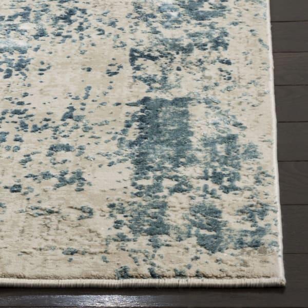 Haden 716 9' X 12' Blue Polyester Rug