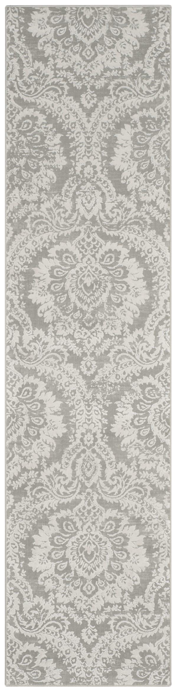 Haden 717 2' X 10' Gray Polyester Rug