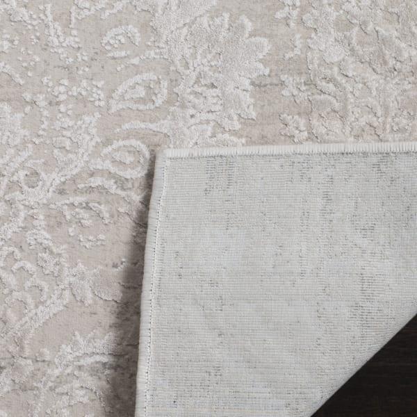 Haden 717 2' X 10' Silver Polyester Rug