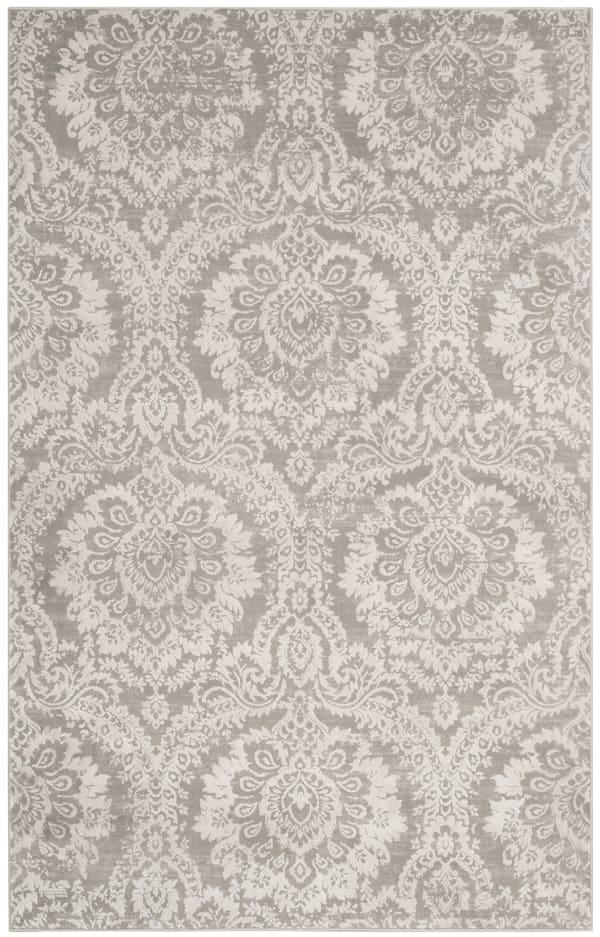Haden 717 4' X 6' Gray Polyester Rug