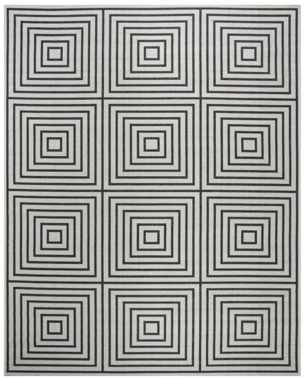 Gray Polypropylene Rug 8' x 10'