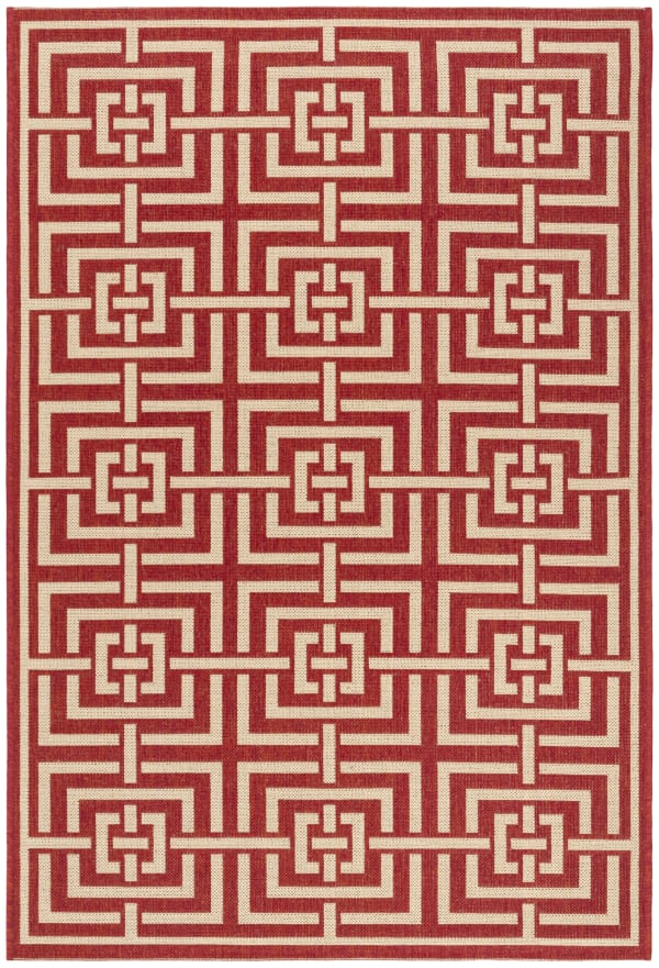 Red Polypropylene Rug 4' x 6'