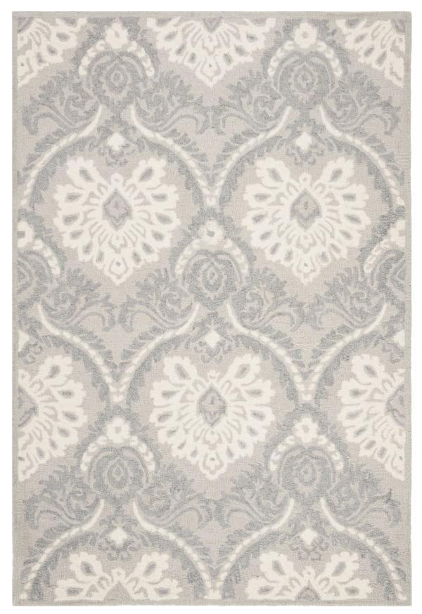 Morgan 106 4' X 6' Gray Wool Rug