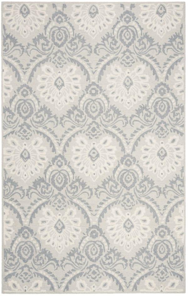Morgan 106 5' X 8' Gray Wool Rug
