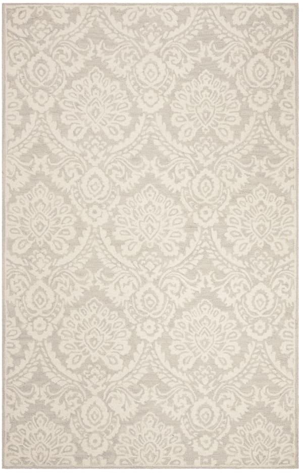 Silver Wool Rug 5' x 8'