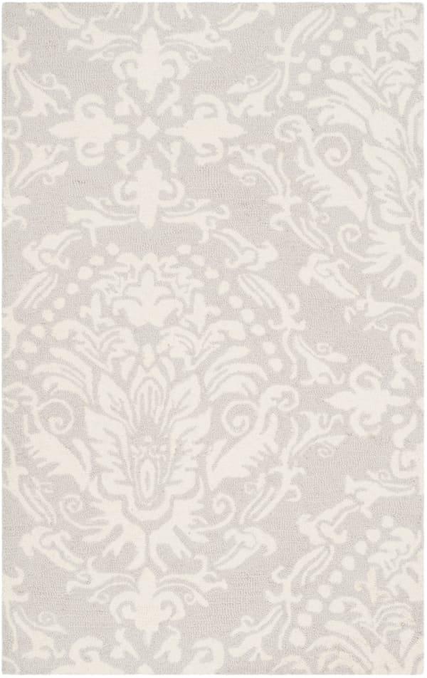Gray Wool Rug 2' x 3'