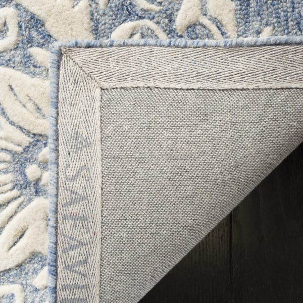 Morgan 107 5' X 8' Blue Wool Rug