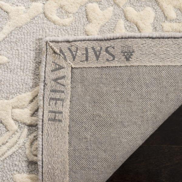Morgan 107 6' X 6' Round Gray Wool Rug