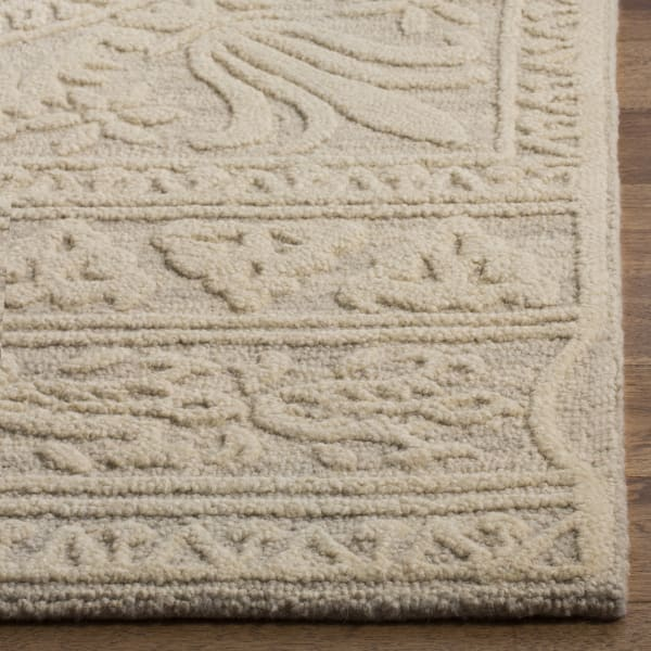 Square Gray Wool Rug 6' X 6'