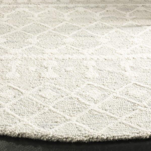 Morgan 110 6' X 6' Round Silver Wool Rug