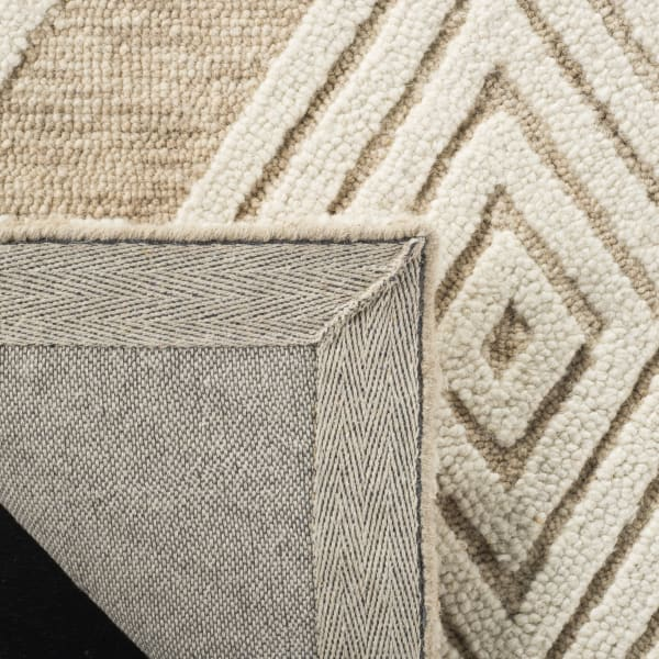 Morgan 111 6' X 6' Round Tan Wool Rug
