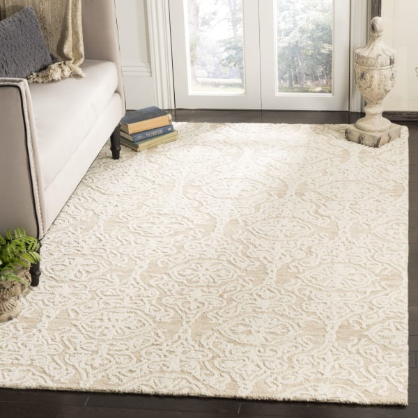 Morgan 112 6' X 6' Square Tan Wool Rug