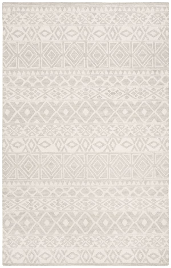 Morgan 113 5' X 8' Silver Wool Rug