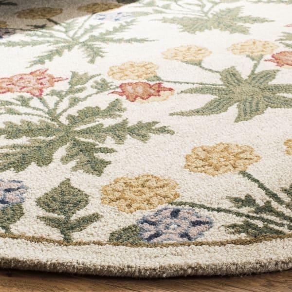 Morgan 151 6' X 6' Round Tan Wool Rug