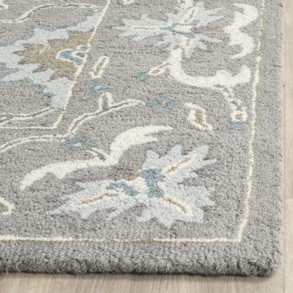 Gray Wool Rug 9' x 12'